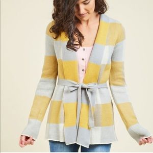 ModCloth Simply Snuggly yellow cardigan